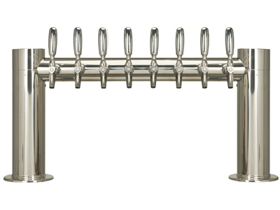 Eight tap tower, Eight faucet, Tower, tube, straight, H, Chrome, Stainless steel title=