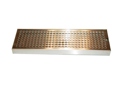 """15 """"  X 5""""   Perforated grill stainless steel finish"""