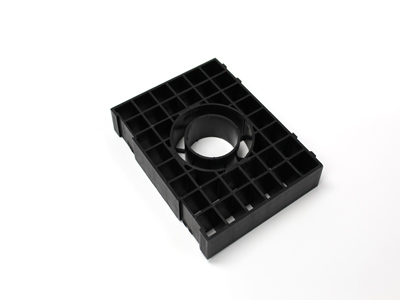 Tower Support For Cobra  Black Plastic Grid title=
