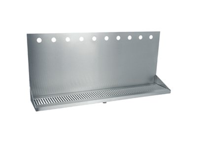 """36""""   Wall mounted drip tray  stainless Steel brushed finish  Louvered grill with 10 Pilot Holes"""