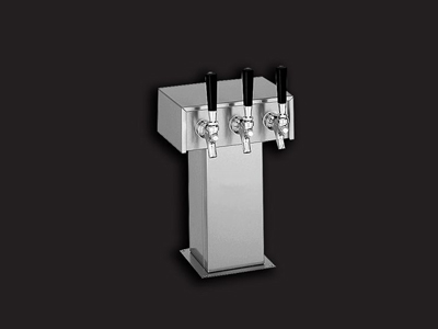 twelve tap tower, twelve faucet, Tower, tube, straight, box, Chrome, Stainless steel title=