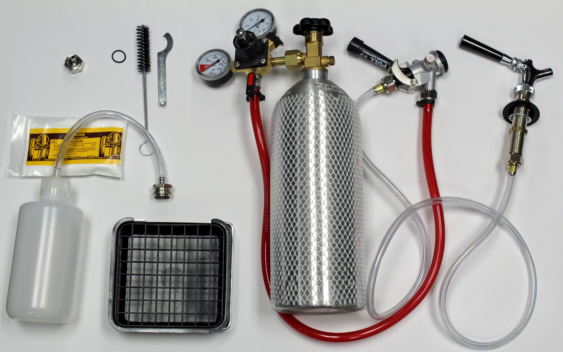 Fridge Kit W/Tray CO2 Tank title=